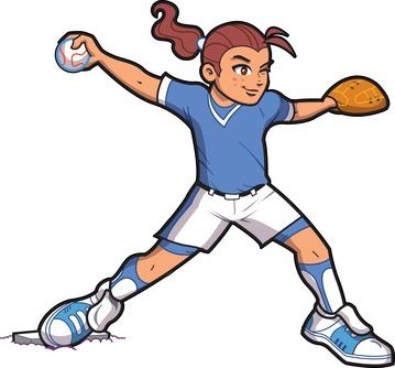 Girl Softball Pitcher